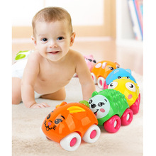 Juguetes para bebés 8PCS Push Sliding Car Magnetic Toys Animal de la historieta linda Interactive Early Educational Kids Classic Toy Infant Rastrear