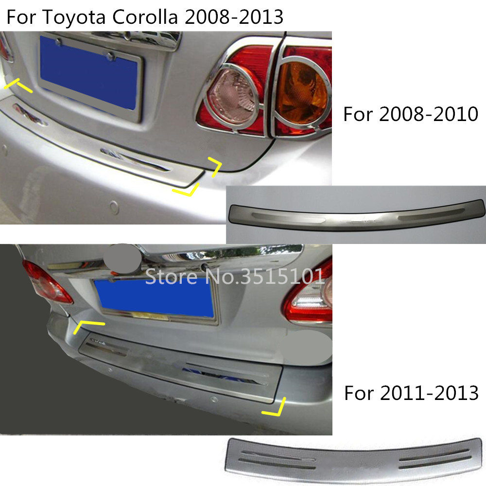 car external rear bumper Protector trunk trim cover plate pedal 1pcs For Toyota Corolla Altis 2008 2009 2010 2011 2012 2013 цена