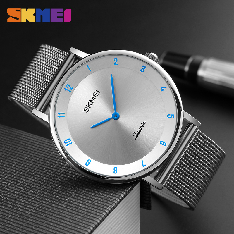 Fashion Casual Watches Men's Quartz Watches Ultra Thin Stainless Steel Watch Clock Male Waterproof Relogio Masculino Saat Montre