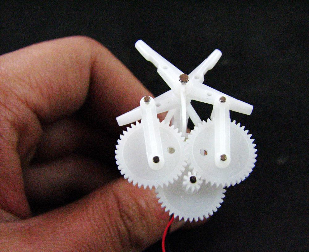 DIY Micro aerial vehicle Ornithopter Gear group gear reduction unit with 6mm motor|gear|gears of war toy|gear sound - title=