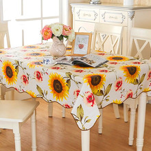 1 Stücke PVC Druck Fashion Square Ländlichen stil Sonnenblume Tischtuch Verdickung Wasserdicht tischtuch Multi Größe tischdecke