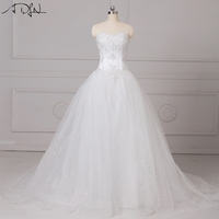 2016 Plus Size Wedding Dresses Summer Beach Bridal Gowns With Sheer Crew Neck Illusion Button Back