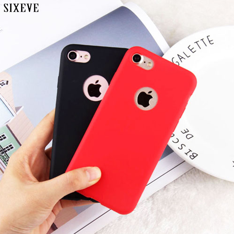 SIXEVE Silicone Case for iPhone 5S 5 SE iPhone 6S 6 s iPhone 8 7 X 10 XR XS Max 6Plus 6SPlus 7Plus 8Plus Cell Phone Cover Casing iphone