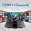Android Caixa Smart TV Quad Core Set-top Box com 1 Ano Grátis Conta IPTV Europa Itália REINO UNIDO Sky Árabe Media Player Frete Grátis
