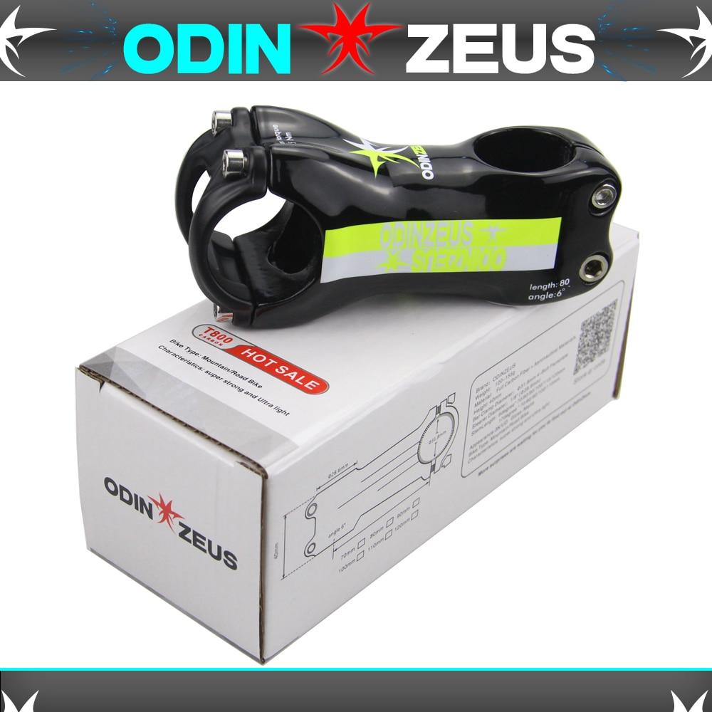 Купить с кэшбэком OdinZeus Super strength Ultra light 6 or 17 Degrees Mountain /Road bike Matte Full Carbon Fibre Bicycle Stem  31.8mmX(80-120mm)
