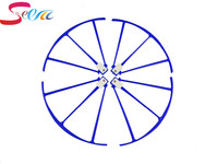 BLLRC aircraft accessories for SYMA X5UW X5UC remote control helicopter propeller protection ring blue protective cover parts