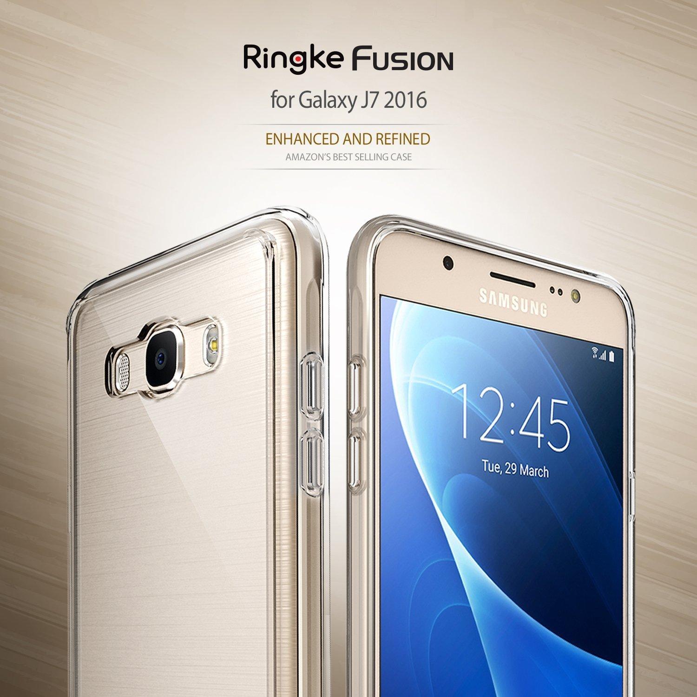 bilder für Original Ringke Fusion Fall für Samsung Galaxy J7 2016 (SM-J710F) Dämpfung TPU Rahmen + Stark Panel Umfasst