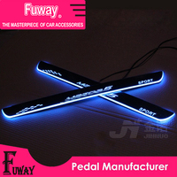 Free Shipping!! 2pcs Car Led moving door scuff car pedal door sill plate steps light welcome pedal for Mazda 2 3 5 6 m3 m5 Axela