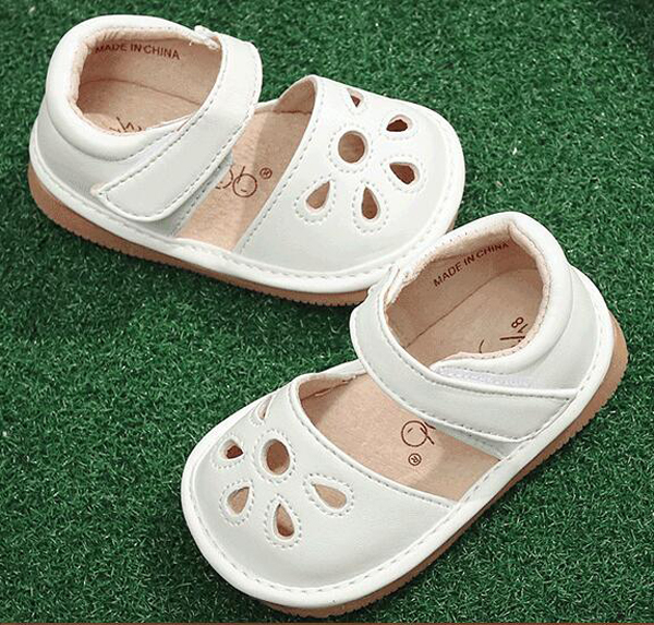 Little Girls Squeaky Shoes Squeakers 1-3 Years Kids Handmade Spring Summer Shoes Sandals Nina Sapatos Fun Baby Shoes
