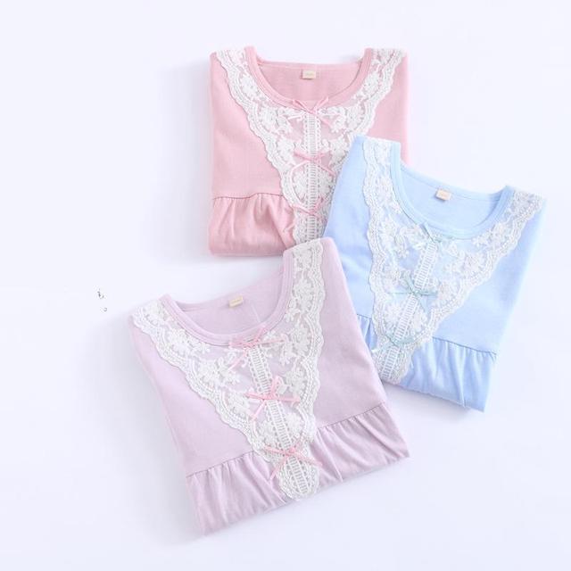 100% cotton  Little Girls Nightgowns Child Nightgown 8104