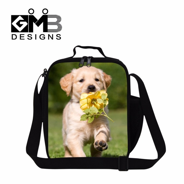 Cute Dog Insulated Meal Bags for Girls,Shoulder Lunch Bags for Children School,lunch coolers for work customized lunch bags kids