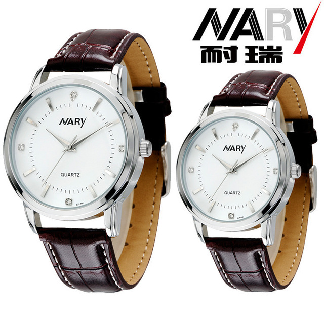 British Retro Leather Watch 6106 4 color Men And Women Watch Business quartz Japan movement Casual Style Woman & Male Watches