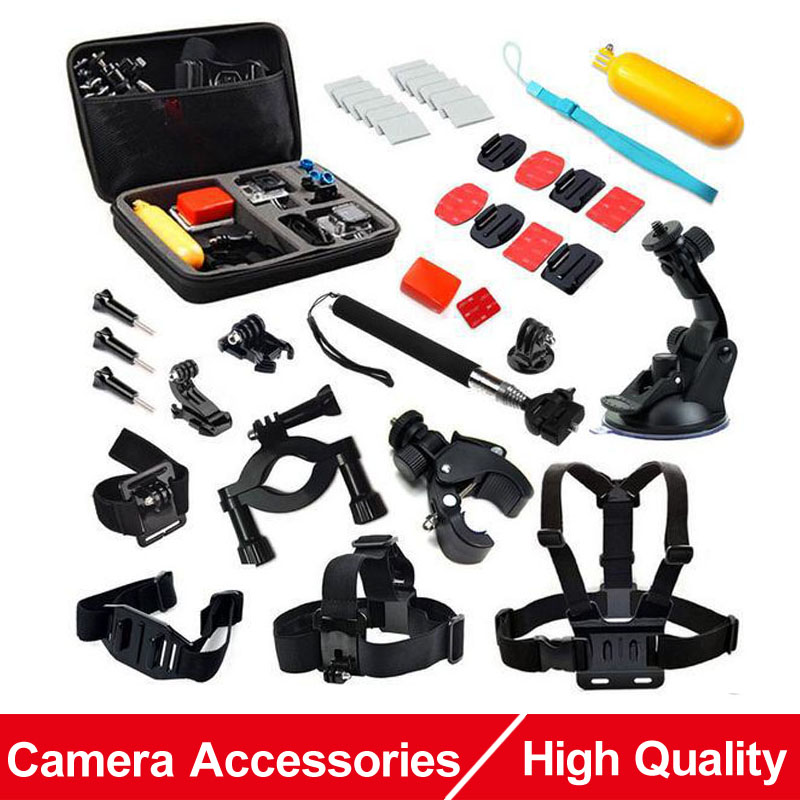 Action Camera Accessories Set EVA Collection Box Monopod Headband Chest Strap Bobber For Gopro Hero 5 4 SJCAM Sj4000 ENEN H9 Cam
