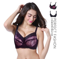 Large Size Bra Big Breast Lace Feeding Full Cup Push Up Front Open Nursing Bras Adjustment