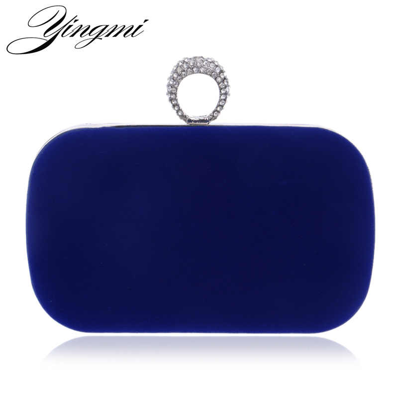YINGMI 2017 Rings Diamonds Women Evening Bags Purse Metal Clutches Handbags  Evening Bags For Wedding Crystal Luxurious Wallets