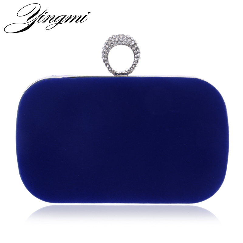 YINGMI 2017 Rings Diamonds Women Evening Bags Purse Metal Clutches Handbags  Evening Bags For Wedding Crystal Luxurious Wallets стоимость