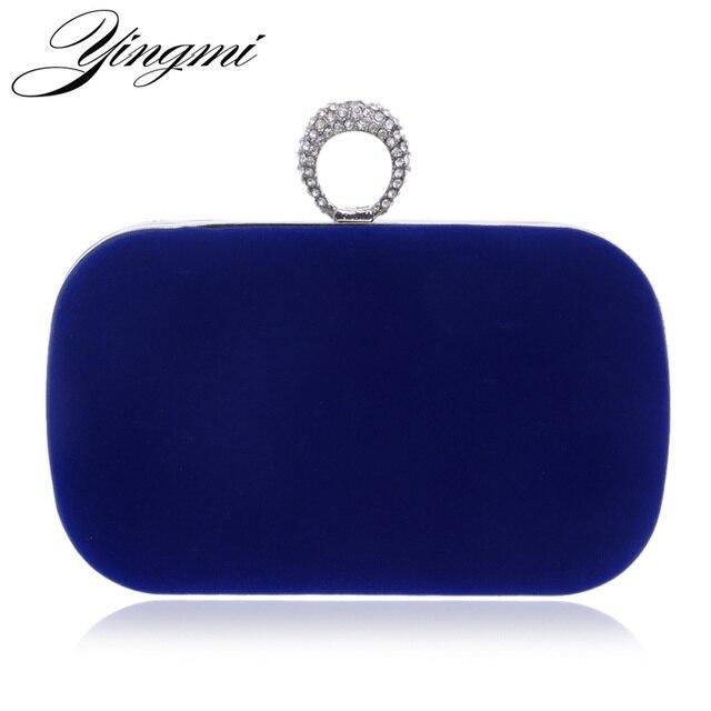 YINGMI 2017 Rings Diamonds Women Evening Bags Purse Metal Clutches Handbags  Evening Bags For Wedding Crystal Luxurious Wallets