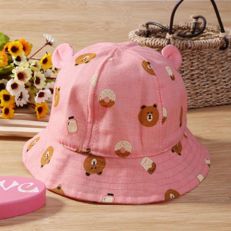 Для маленьких девочек хлопковые бассейна шляпа ухода за кожей ребенка Hat сезон весна-лето Дети Рыбак покрытия ВС шляпа реквизит