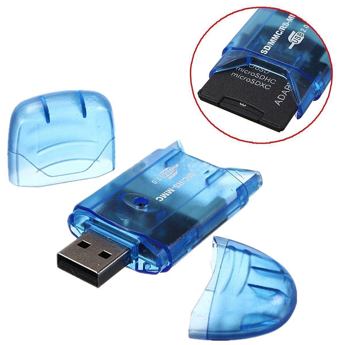 Mini Blue USB Card Reader Portable Office Data Reader Readers For Student Teacher Data Office