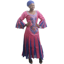 MD bazin riche african dresses for women embroidery dress with chiffon womens traditional clothes wedding party