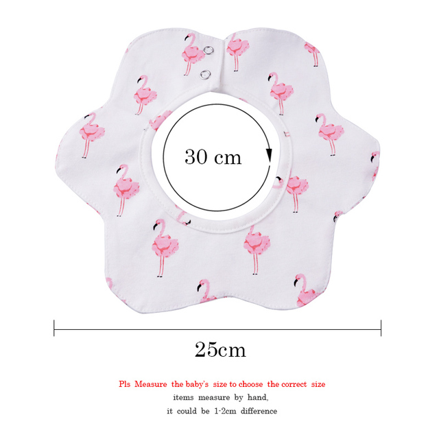 3-Pack Flower Style 360 Degree Rotatable Baby Bibs