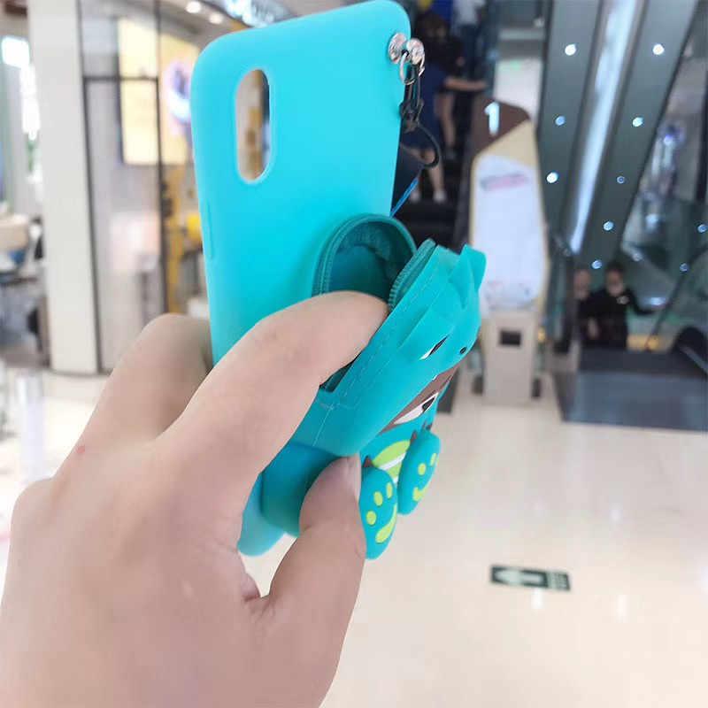 Dibujos Animados 3D oso cartera funda de teléfono para huawei P30 9 10 20 Plus TPU funda de silicona para huawei Nova 2 3 4 Mate 9 10 20 Capa