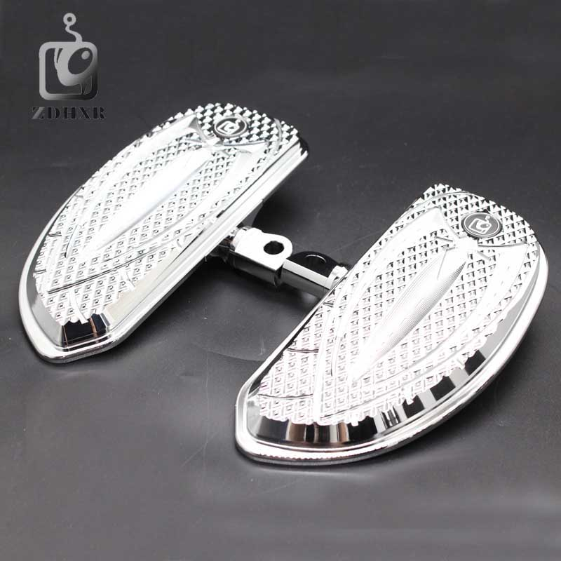 Motorcycle Accessories Chrome and Black Color Driver Floorboards Pedal For Harley Sportster 883 1200 Touring Dyna & Softail