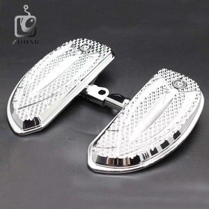 Image 5 - Motorcycle Accessories Chrome and Black Color Driver Floorboards Pedal For Harley Sportster 883 1200 Touring Dyna & Softail