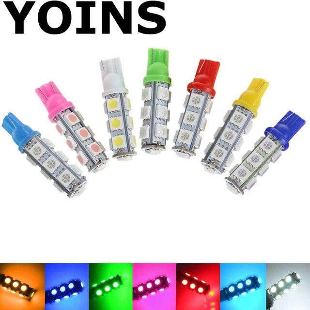 Оптовая продажа белый T10 13 SMD 5050 автомобиля боковой Лампа 194 168 W5W светодио дный Клин лампы автомобилей светодио дный 1 шт.