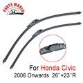 26 ''+ 23''r frente wiper blade para honda civic 2006 em diante, brisas limpador para honda peças acessórios do carro limpar a brisa