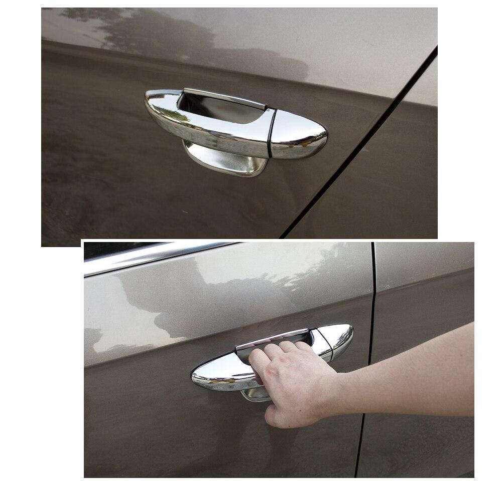for VW Passat B6 B7 CC Chrome Door Handle Covers Trim Set of 4 Door for Volkswagen 2005-2016 Sedan Wagon Accessories Car Styling