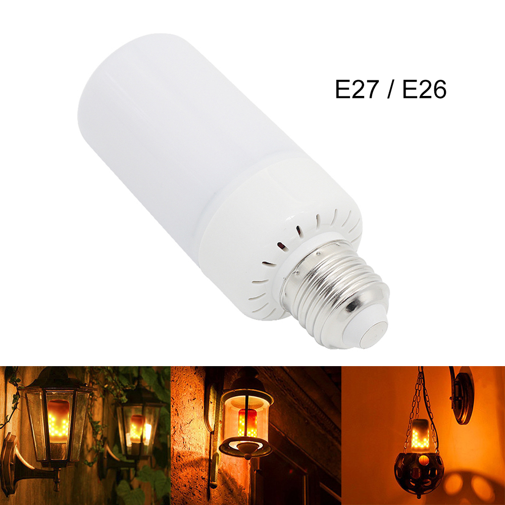 YWXLight E27 E26 2835 LED Flame Effect Fire Light Bulbs 3 Modes 7W Creative Lights Flickering Emulation Vintage Decorative Lamp 4w e27 e26 led dynamic flame effect fire lamp bulbs flicker emulation light bulb ac100v 240v night lights with 3 modes lampada