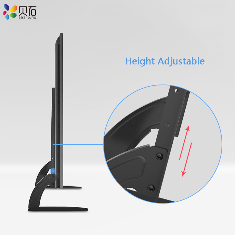 "BEISHI Universal TV Stand Base For 32''-65"" Plasma LCD Flat Screen Height Adjustable Monitor Mount Bracket Load Up To 50 kg 6"