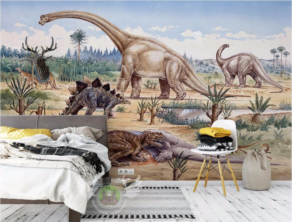 3 d photo wallpaper Jurassic dinosaurs home decor Custom mural 3d wall murals wallpaper for living room walls 3 d painting custom photo 3d wall murals wallpaper mountain waterfalls water decor painting picture wallpapers for walls 3 d living room