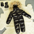 Baby snowsuit 0-24 Months Down Hooded Black Infant Boys Snowsuit Baby Winter Jumpsuit Warm Newborn Baby Winter Clothes