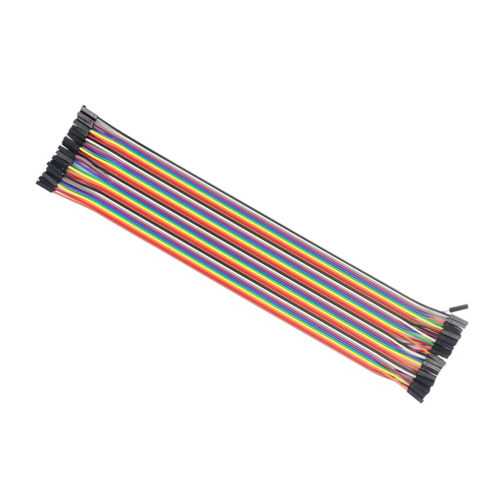 40pcs/lot 1p-1p 30CM  Famale to Female Dupont Line Jumper wire Dupont cable Breadboard for arduino Diy Kit 100pcs dupont head 2 54mm 4p 1x4p dupont plastic shell pin head connector jumper wire cable housing plug female