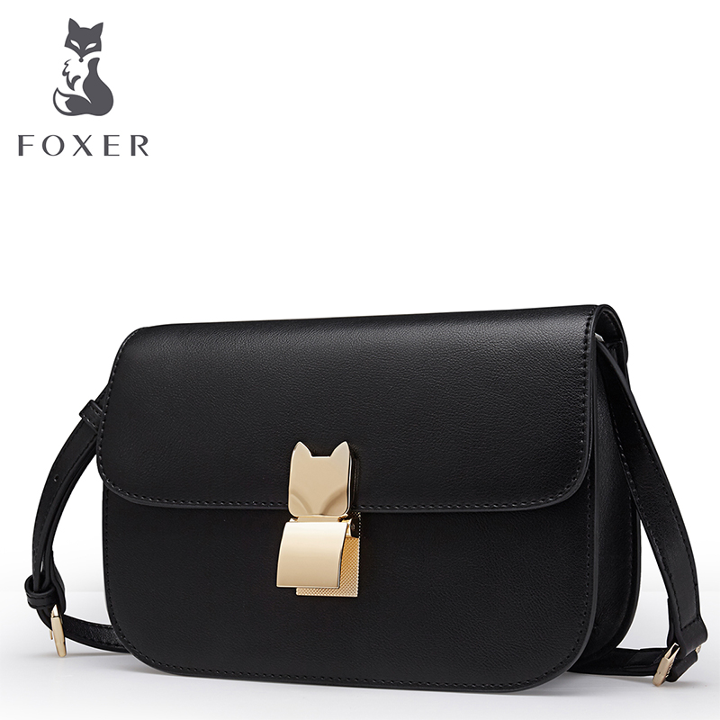 Foxer Brand Women Leather Crossbody bag Small Flap Shoulder Bag New Fashion Female Messenger Bags Girl's Bags все цены
