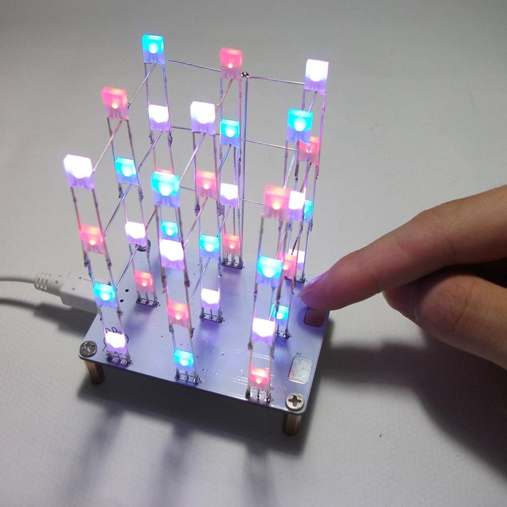 3 3 4 Color Diy Led Light Cube Kit Diy Electronic Led Display Kit