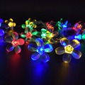 Battery Operated Cherry Flowers LED String Lights 5M 50LEDS for All Festivals Holidays Decoration Lighting Lamps Lights Luces