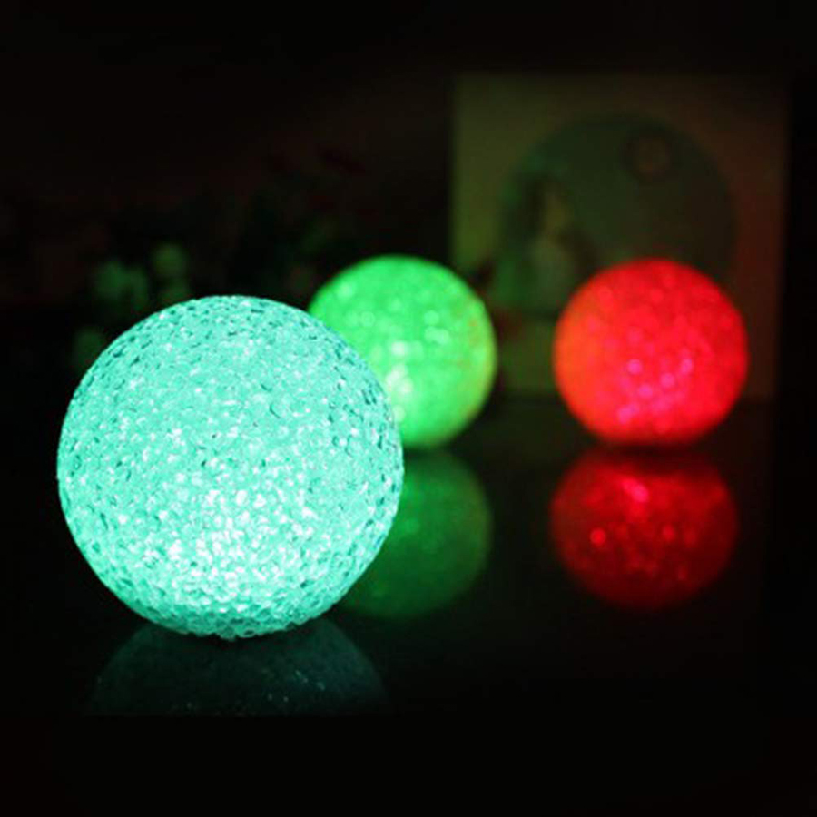 8/10/12/14CM Magic Crystal Ball Color Changing LED Night Light Toy Ball Halloween Party  Festival Decoration Table Lamp