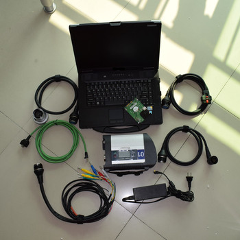 mb star c4 sd connect full set + 12/2018 V-ediam/DTS HDD with laptop cf52 with WIFI in stock mb star c4 software