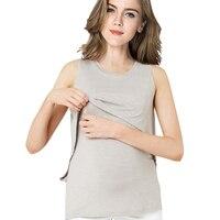 Summer Cotton Pregnant Tops Tees Clothing Maternity Nursing Tank Breastfeeding t-shirt Casual Pregnancy Nurse Wear Clothes 2017
