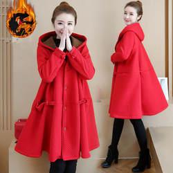 Бархатное зимнее женское длинное пальто теплая куртка женская одежда для беременных Женская толстовка Свободная верхняя одежда парки