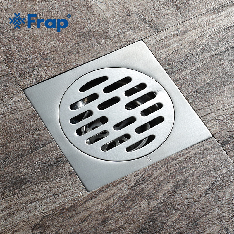 Frap Tile Insert Square Floor Waste Grates Bathroom Shower Drain Floor Drain Waste Drain Strainer Cover Stainless Steel Y38086