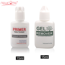 NEWCOME Remover&Primer Eyelash Extension Clear Gel Lashes Safty Adhesive Eye Korea Remover for Makeup Professional 15ML