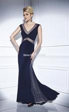 2016 Versandkosten Eleganten V-ausschnitt Prom Dresses Tulle Mermaid vestidos de fiesta Abendkleid Mit Kappen-hülsen Für Party