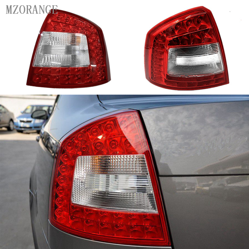 MZORANGE Car Rear Lights Tail Light For SKODA Octavia A6 RS 2009 2010 2011 2012 2013 LED Rear Light Car-styling car parts tail lamp for vw golf 6 2008 2009 2010 2011 2012 2013 led tail light rear lamp plug and play design