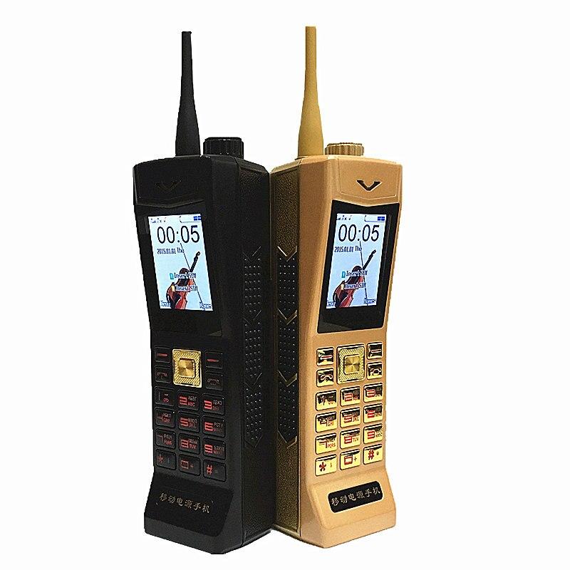 2017 NOUVEAU Super Grand Mobile Téléphone De Luxe Rétro Téléphone Son Fort Puissance Banque Veille Dual SIM Lourds H-mobile V8