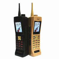 2017 NEW Super Big Mobile Phone Luxury Retro Telephone Loud Sound Power Bank Standby Dual SIM