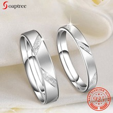 Soaptree Love Couple Ring Silver 925 Jewelry Rings For Men Wedding Rings 925 Sterling Silver jewelry trending Styles Jewellery